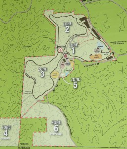 Large Printed Map of Moto Mountain Park